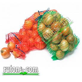 Сетка для овощей на 4 ведра 40 кг 50х80 см для лука, картошки, перца, морковки с верхней застежкой