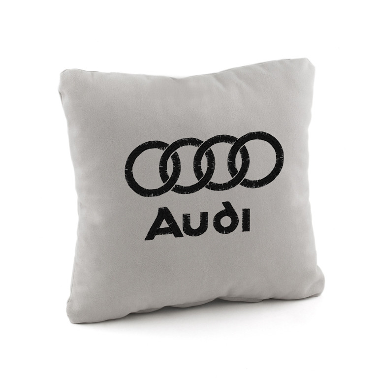 Подушка с лого Audi флок, фото 1
