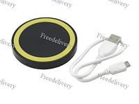Qi передатчик круглый беспроводная зарядка телефон