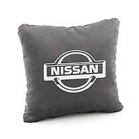 Подушка с лого Nissan флок, фото 1