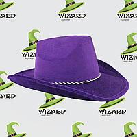 Шляпа Ковбоя велюровая
