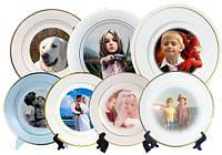 Печать на тарелках фото,логотипа или изображений