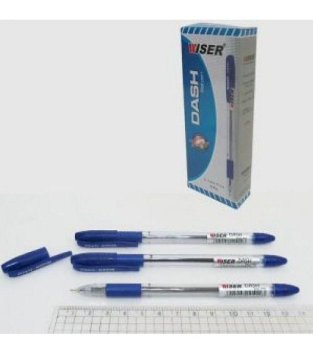"Ручка масляна Wiser ""Dash"" 0,7мм з грипом синя"