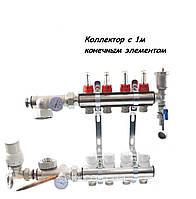 Сборный коллектор с 1-м конечным элементом в хроме ( 3 контура )