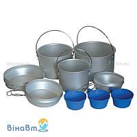 Набор посуды из алюминия Tramp 1,2 + 1,9 + 2,9 л (TRC-002)