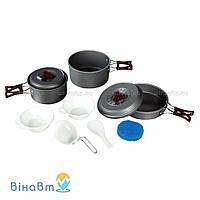 Набор посуды из анодированного алюминия на 2-3 персоны Tramp 1,0 + 1,75 л (TRC-024)