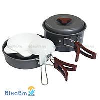 Набор посуды из анодированного алюминия на 1-2 персоны Tramp 1 л (TRC-025)