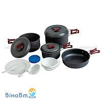 Набор посуды из анодированного алюминия на 4-5 персон Tramp 1,0 + 1,8 + 2,8 л (TRC-026)