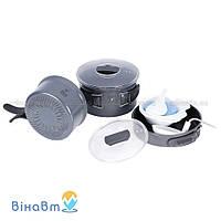 Набор посуды из анодированного алюминия на 2-3 персоны Tramp 1,0 + 1,7 л (TRC-034)