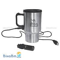 Автомобильная термокружка с подогревом 12 В + USB вход Tramp 0, 45 л (TRC-064)