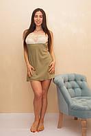 Креп-шифоновая женская ночная сорочка