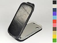 Откидной чехол из натуральной кожи для HTC Desire V (t328w)