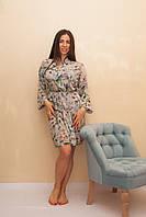 Женский шифоновый халат с длинным рукавом