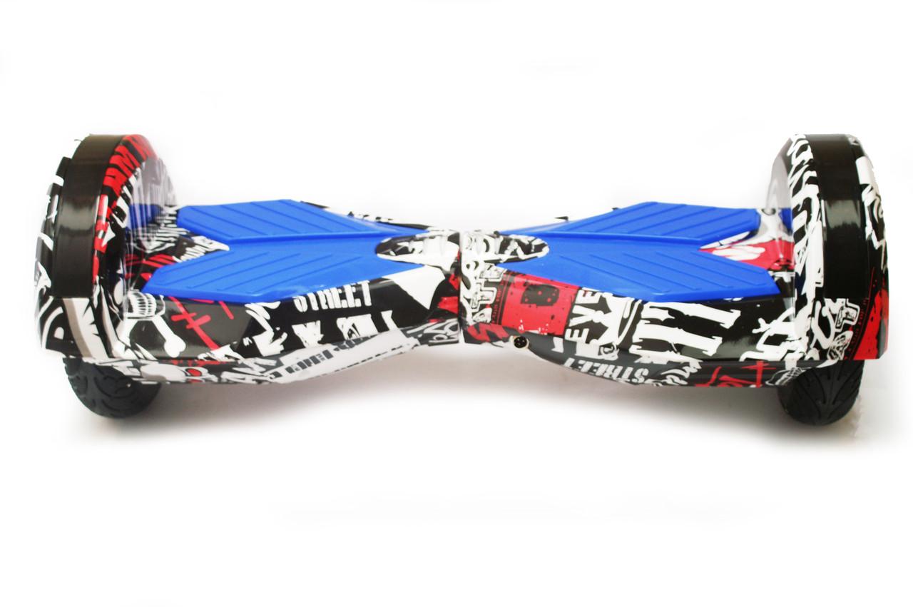 Гироборд 8 гироскутер сигвей с Bluetooth и колонками оригинал Black Graffiti
