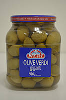 Оливки зеленые гигантские Olive Verdi giganti Neri 1450/900 г