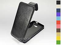 Откидной чехол из натуральной кожи для HTC Butterfly S