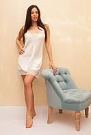 Женская ночная сорочка из шелка цвета айвори