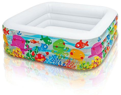 """Детский надувной бассейн Intex """"Аквариум"""", 159x159х50 cм  (57471)"""