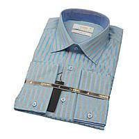 Приталенные рубашки с длинным рукавом размер M