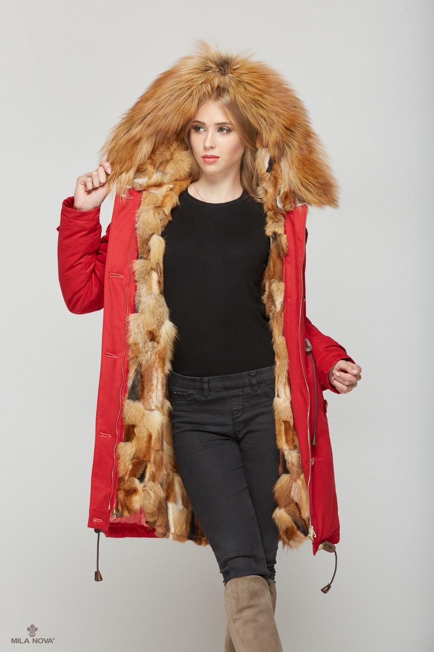 Женская зимняя куртка-парка трансформер 4 в 1
