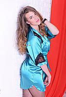Женский шелковый халатик высокого качества, фото 1