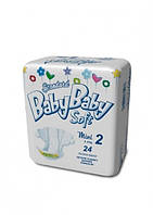 Подгузники BABYBABY SOFT Standard 2 Mini 3-6 кг (24 шт)