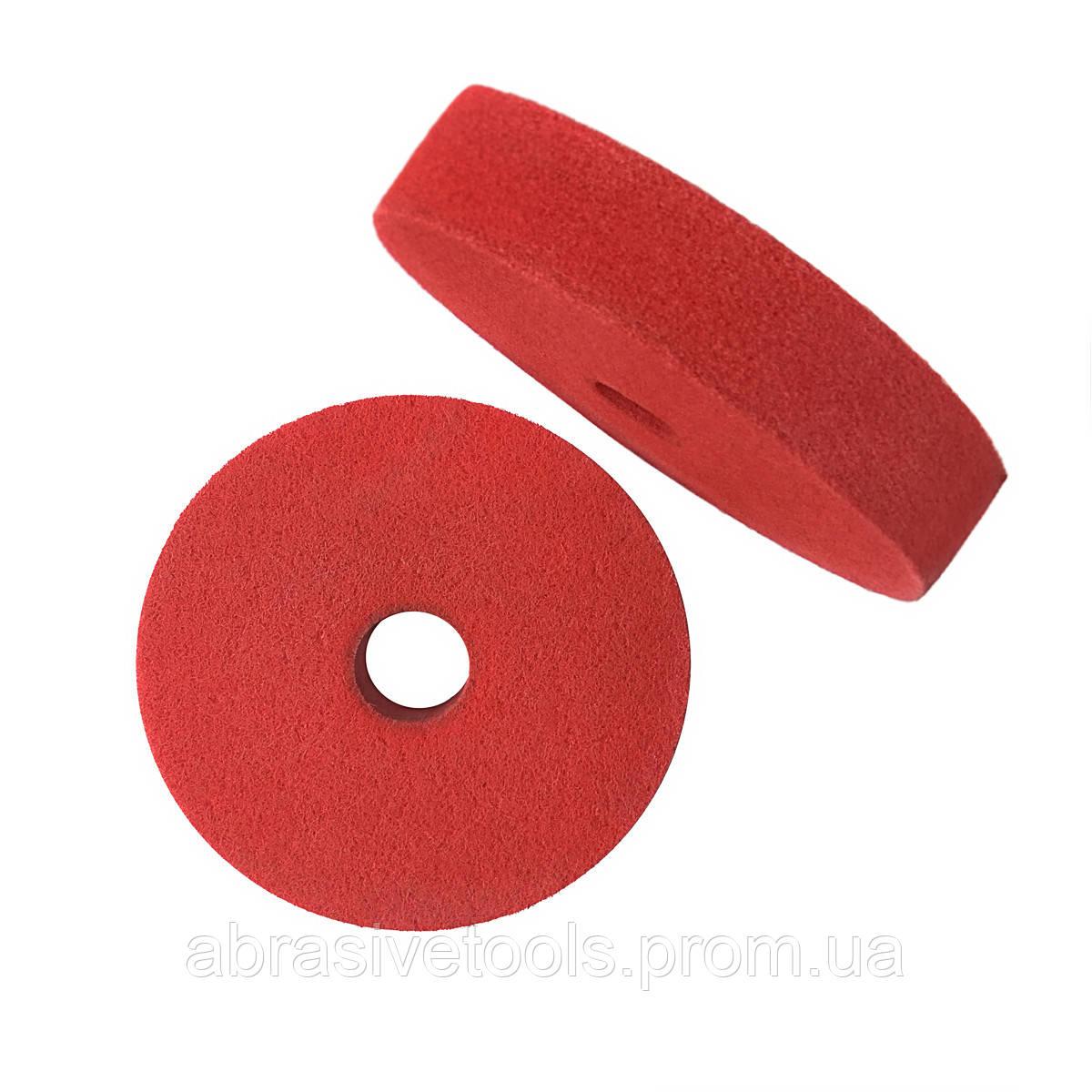 Абразивный диск скотч-брайт 200х50х32 F240 красный