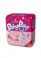 Подгузники BABYBABY SOFT Premium 2 Mini 3-6 кг (24 шт)