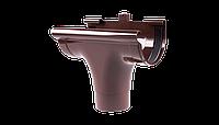 Ливнеприемник проходной PROFIL, ПВХ, 90/75 мм, коричневый