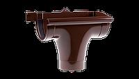 Ливнеприемник правый PROFIL, ПВХ, 90/75 мм, коричневый