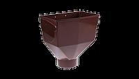 Горло желоба PROFIL, ПВХ, 130/100 мм, коричневый