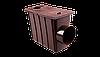 Колодец с боковым сливом PROFIL, ПВХ, 130/100 мм, коричневый