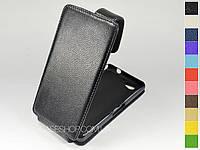 Откидной чехол из натуральной кожи для Sony Xperia Z2 Compact