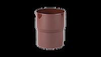 Соединитель водосточной трубы PROFIL, ПВХ, 90/75 мм, коричневый