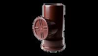 Ревизия PROFIL, ПВХ, 130/75 мм, коричневый