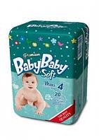 Подгузники BABYBABY SOFT Premium 4 Maxi 7-18 кг (20 шт)