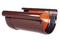 Соединитель желоба PROFIL, ПВХ, 130/100 мм, коричневый
