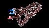 Держатель трубы металл. L-220 PROFIL,  130/100 мм, коричневый