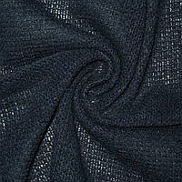 253025460 - Трикотаж вязаный синий шерст. ш.170