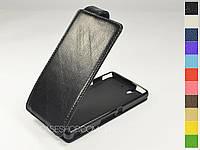 Откидной чехол из натуральной кожи для Sony Xperia Z lt36i c6603