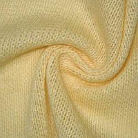 Трикотаж трикотажная ткань трикотажное полотно вязаный бледно желтый шерстемныйш.170