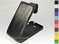 Откидной чехол из натуральной кожи для Sony Xperia M2 Dual D2302