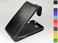 Откидной чехол из натуральной кожи для Sony Xperia C c2305
