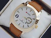Мужские (женские) кварцевые наручные часы Curren GMT Chronometer золото