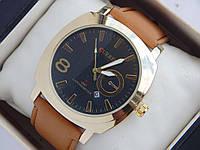 Мужские (женские) кварцевые наручные часы Curren GMT Chronometer золото, фото 1