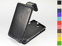Откидной чехол из натуральной кожи для Sony Xperia E c1505