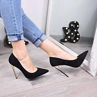 Туфли женские на шпильке Hitees черные 3510, женская обувь