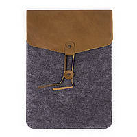 Чехол для ноутбука Digital Wool Case 13 (DW 13-03) кож.клап.+завяз.