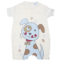 Песочник футболка для мальчика новорожденных малышей хлопок ТМ Ромашка