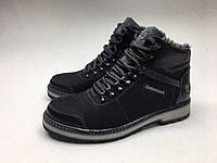 Мужские ботинки Timberland черно-черные нубук